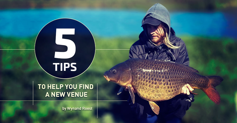 Finding the right venue can deliver great fish. Wynand Roest with a big carp