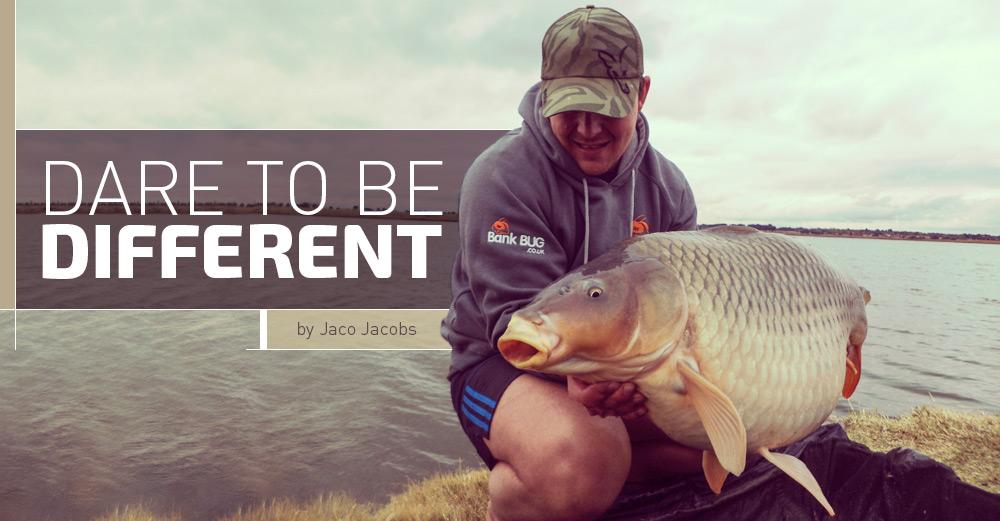 Jaco Jacobs with carp catch