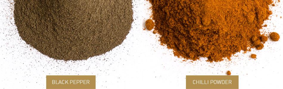 Black Pepper and Chilli Powder