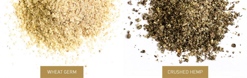 Wheat Germ and Crushed Hemp